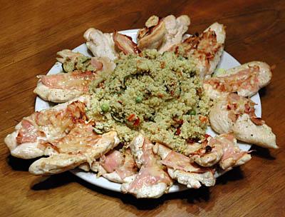 kjúklingabringur með skinku og parmesan - kúskús