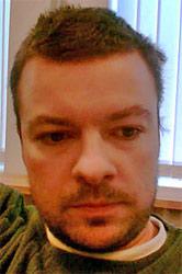 Matthías Ásgeirsson, skeggjaður og úfinn