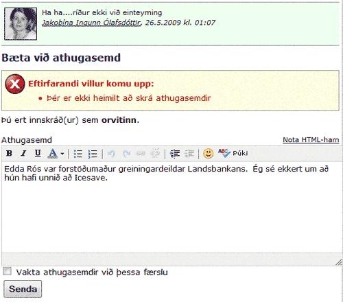 Ritskoðaður á kreppublogginu