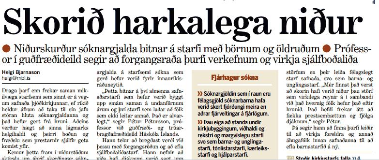 Forsíða Morgunblaðsins