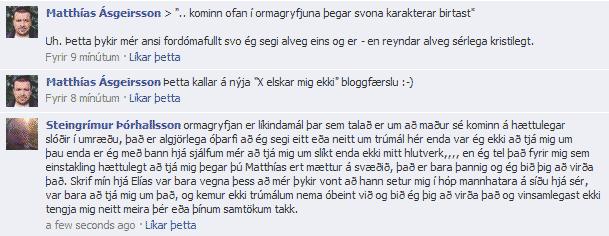 Steingrímur Þórhallsson elskar mig ekki enn