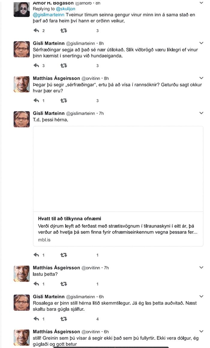 Gísli Marteinn á Twitter